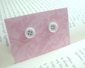 Button Earrings - White