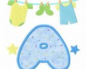 baby clothes line font applique letters machine embroidery designs