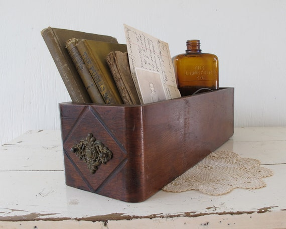 RESERVED///Antique Wooden Sewing Drawer, Rustic Home Decor and Storage