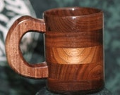 Handcrafted Wood Coffee 8oz Mug Walnut - Coffee Cup - Wood Coffee Mug