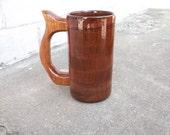 Handcrafted Wood Mug Mahogany 12 oz Tankard, Wood Beer Mug, Beer Stein, Drinking Vessel, Stein, Wood Beer Tankard, Wood Beer Stein