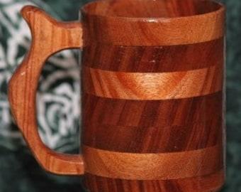 Handcrafted Mahogany Wood Beer Mug 32oz Wood Beer Stein, Wood Tankard, Drinking Vessel, Wood Beer Mug, Wood Mug, Stein, Mug, Tankard