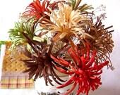 CUSTOM ORDER for Liz K.. - Wood Carved Flower Bouquet in Birch Wood Vase - Rustic Elegance