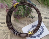 Thickness 10 gauge (2.5mm) - 16 feets - Artistic Aluminum Craft Wire - Brown