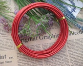 Thickness 8 gauge (3mm) - 16 feet - Artistic Aluminum Craft Wire - Red