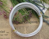 Thickness 8 gauge (3mm) - 16 feet - Artistic Aluminum Craft Wire -Silver