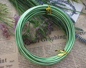Thickness 8 gauge (3mm) - 16 feet - Artistic Aluminum Craft Wire - Green
