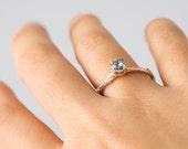 Ceylon Sapphire & Gold Twig Ring