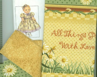 Daisy Kingdom All Things Grow With Love Doll Dress Kit