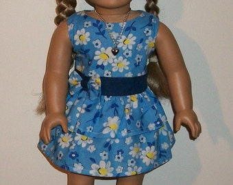 18inch doll 3 pc Dress Set - Lets have Some Summer Fun