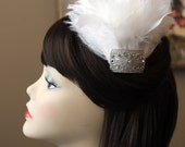 White Feather Fascinator, The Felicity Fascinator