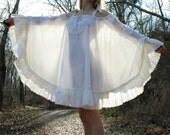 OOAK Versatile Lace Gypsy Bird Tent or Poncho Dress Upcycled Eco Friendly S M L XL