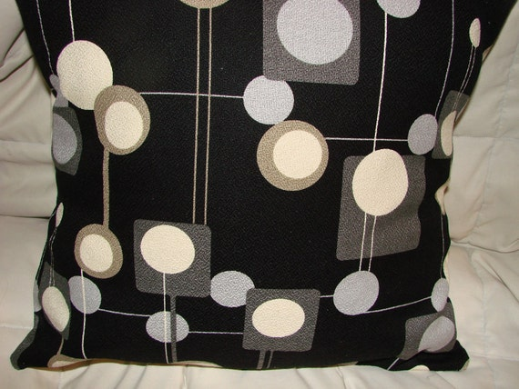 Mid century modern reproduction eames era barkcloth fabric for Mid century reproduction