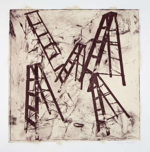Ladders-etching