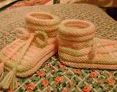 Pink Variegated Baby Booties