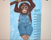 Childrens Growth Chart Monkey