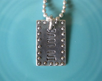 IN LOVE sterling silver charm