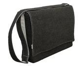 """13"""" Messenger Laptop Bag - Dark Gray Corduroy Bag"""
