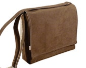 "13"" Laptop Messenger Bag - Brown Padded MacBook Bag"