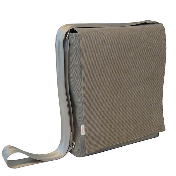 macbook air messenger bag sleek light brown corduroy