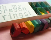 Stainless Steel Crayon Rings set of 8 Choose Size: 5, 6, 7, or 8