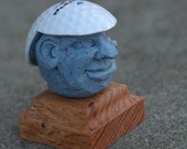 Hand Carved Caricature Golf Ball