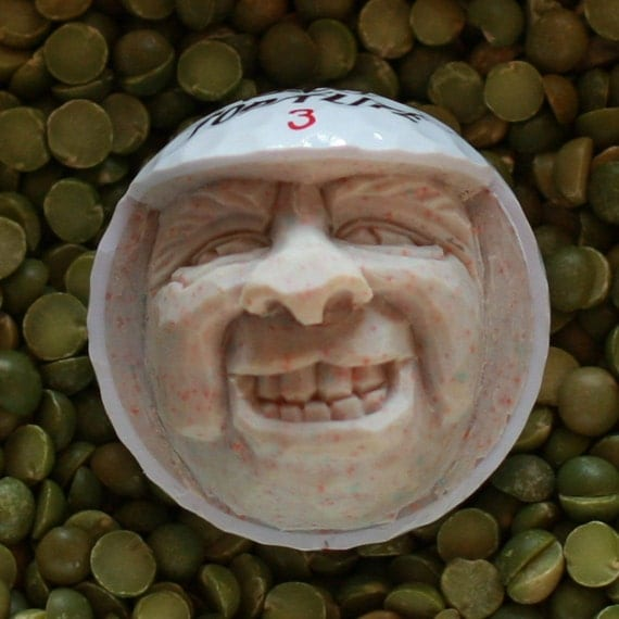 Hand Carved Caricature Top Flite Golf Ball