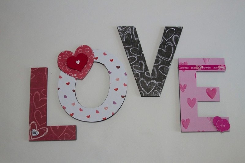 Valentine Room Decor Love Letters Teen by BearySpecialScrappin
