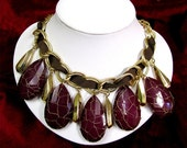 Hidden Treasure------Very UNIQUE Steampunk chunky beads and Ribbon necklace-------%20 OFF,entire store for a limited time....Coupon code ( HelloSpring11)------Receive a Beautiful GIFT, when.........