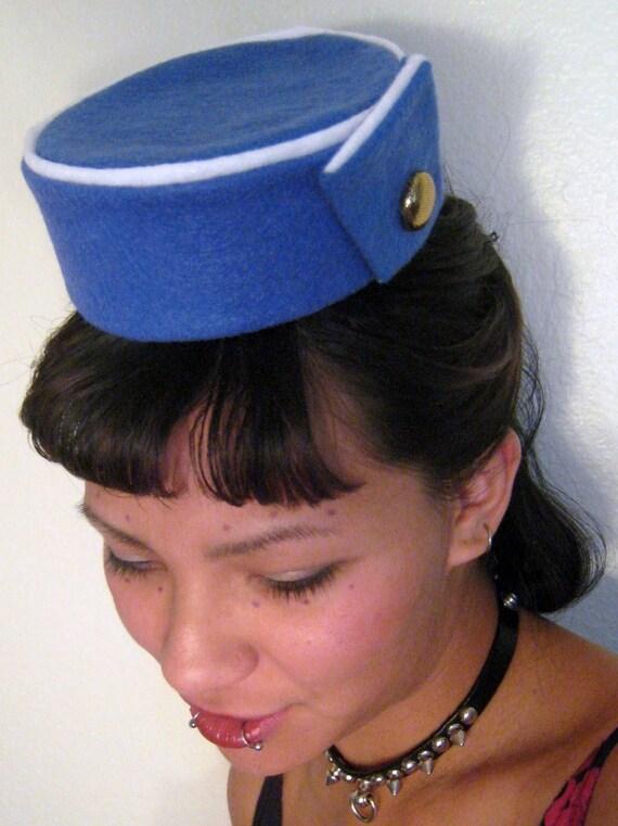 Pan am stewardess pill box hat