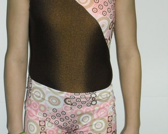 Brown and pink leotard-any size