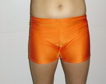 Orange spandex shorts-any size