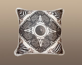 Victoria Pillow - Taupe/Black