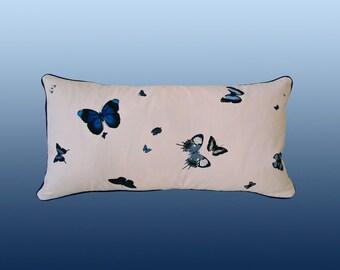 Flutter Pillow - Blue/Cream