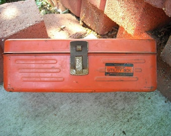Vintage Retro Metal Industrial Utility Box
