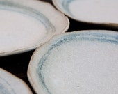 Ceramic Dinner Plate with Circles in Blue