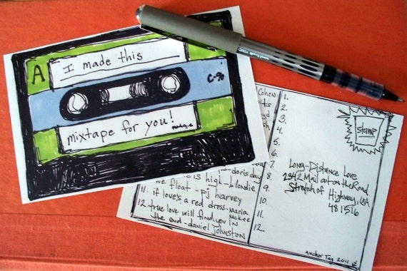 Mixtape Postcards (Set of Six)
