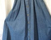 Etsy Vintage Skirt - Denim Skirt - Vintage Denim Skirt - Skirt - Denim - Women's Clothing