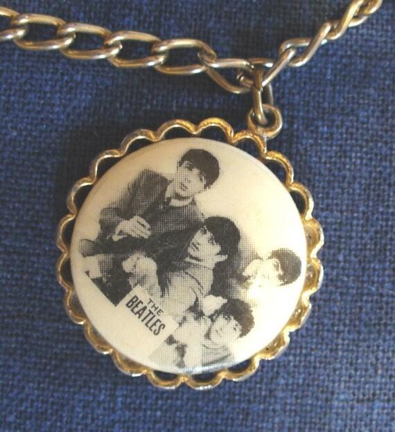 Beatles Charm Bracelet: Bracelet The Beatles Vintage Costume Jewelry Vintage