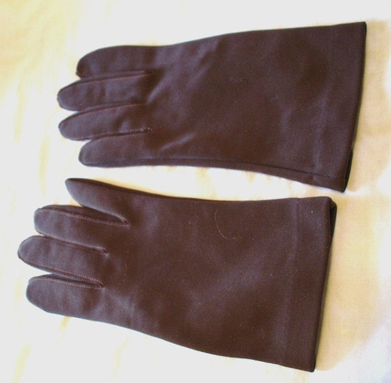 Etsy Gloves-Vintage Women's Gloves-Vintage Gloves- Women's Gloves-1960's Gloves-Dark  Brown Gloves