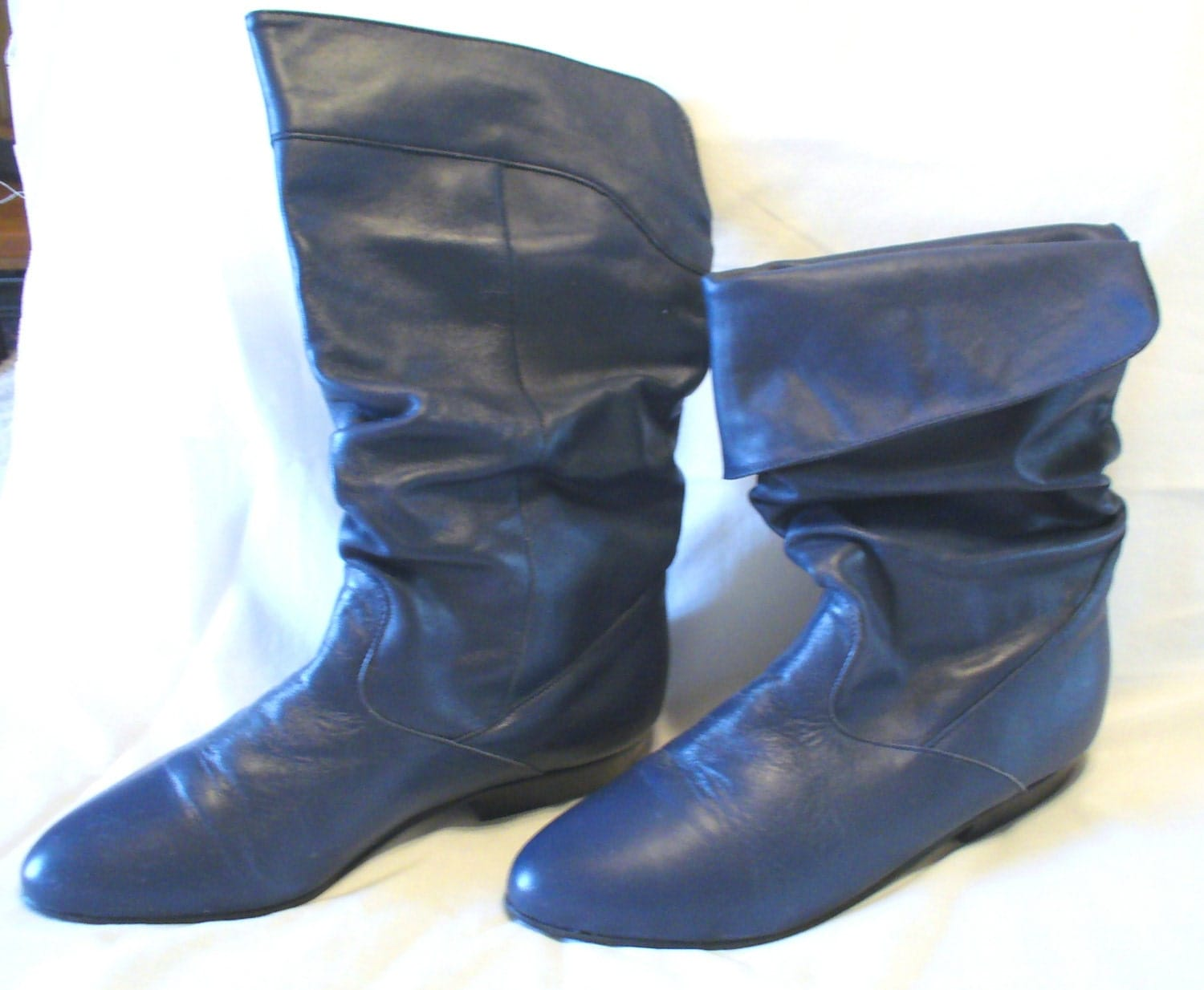 ETSY SHOES Etsy Boots Aj Valenci Navy Blue Leather
