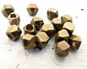 diamond shaped brass bead - 4 mm