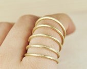 Multiple ring- bronze-gold coated-free shipping