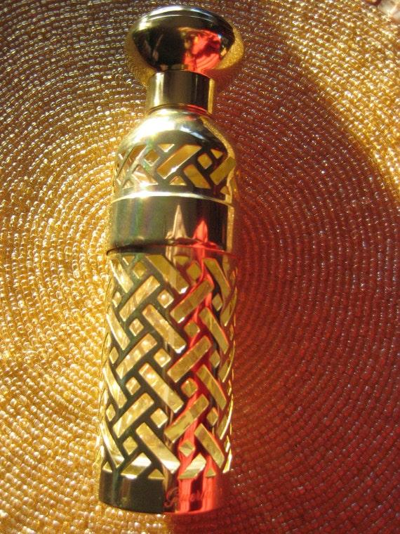 Gold Guerlain L'heure Bleue Paris Spray Perfume Bottle Chic Refillable