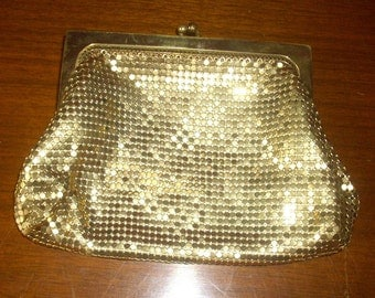 Whiting and Davis Ladies Mesh Change Purse or Little Clutch 1950's