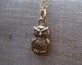 Owl Necklace, Owl charm, SALE