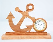 "Small Anchor 1 7/16"" clock - Red Oak"