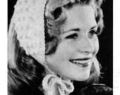 PATTERN Vintage Headband to Knit PDF Pattern Ear Warmer Popcorn Stitch Headband. Ice Skating Figure Skating Ear Warmer