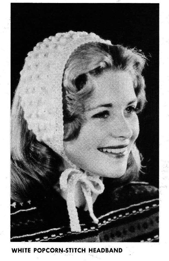 PATTERN Vintage Headband to Knit PDF Pattern Ear Warmer