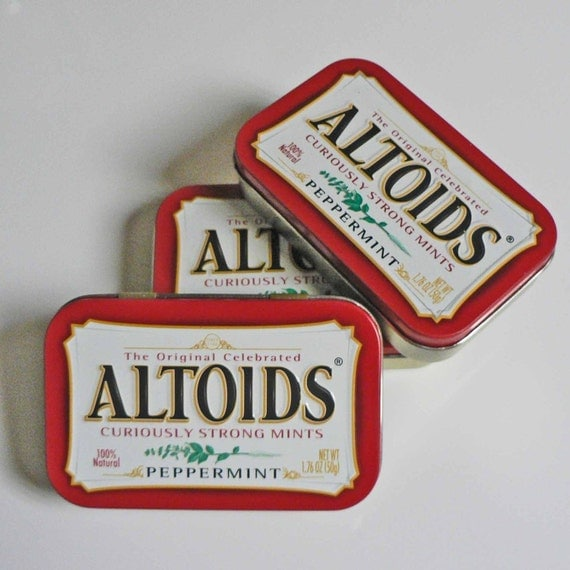 Altoid Tins Ready for your great ideas Reduce Reuse Recycle Eco Friendly Craft Tins SET OF 3